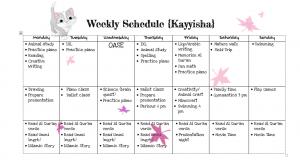 kayyisha schedule