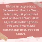 Effort Counts Twice