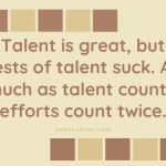 Distracted by Talent