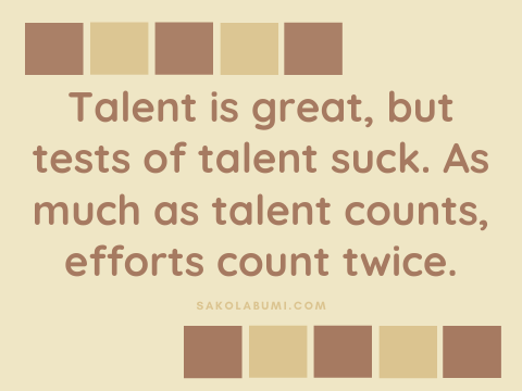 talent counts twice