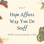 Hope Affects Way You Do Stuff